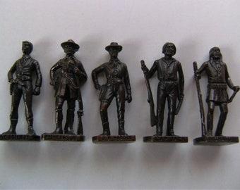Vintage Kinder surprise metal  toy figures - set of 5