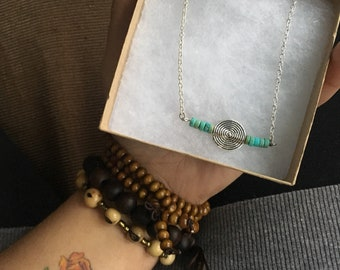 Turquoise Sprial Necklace