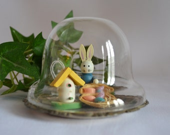 Vintage Glass Dome Supply / Snow Globe Supply /Terrarium /Glass Cloche  / Lot of 3