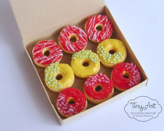 Realistic Miniature donuts Dollhouse miniature food