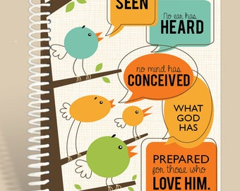 Personalized Journal / Birdie Talk / 1 Corinthians 2:9/