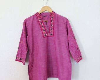 Vintage embroidered blouse/Indian embroidered top