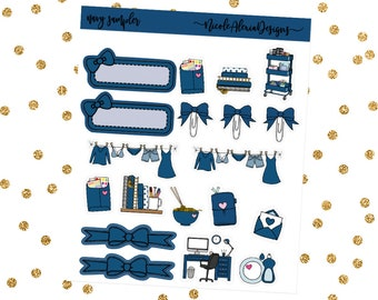 Navy Sampler, Bow Planner Stickers