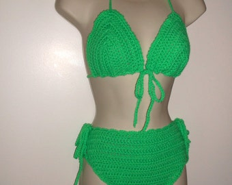Crochet High Waist Bikini Set, crochet swimwear, swimwear, high waist swimsuits, bathing suits, crochet swimsuits, beachwear, bikini
