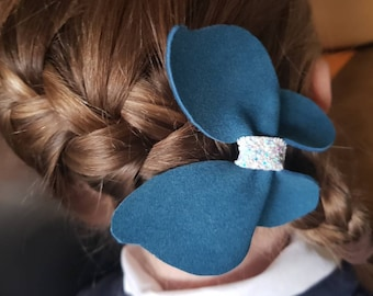Turquoise butterfly hair clip