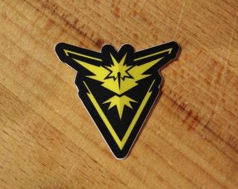 Team Instinct (Yellow) Zapdos Pokemon Go Sticker