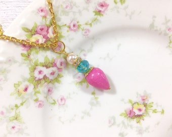 Necklace. Pendant. Pin.