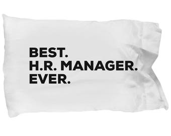 HRManager Pillow Case, Gifts For HRManager, Best HR Manager Ever, HR Manager Pillowcase, Christmas Present, HR Manager Gift