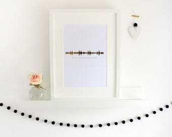 Foil Soundwaves Personalised Print