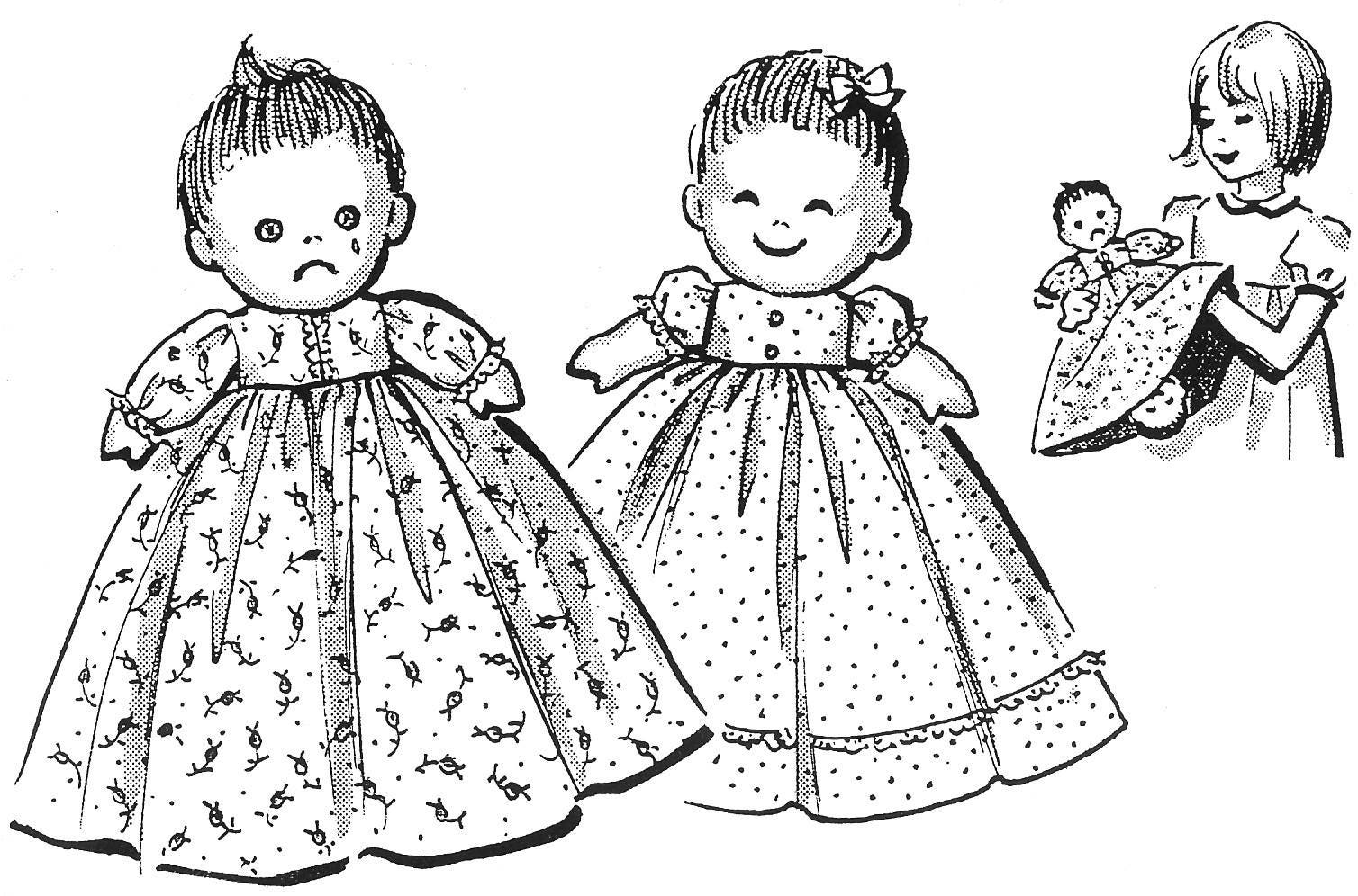 Happy and Sad Upside Down Cloth Doll Pattern Also Known As A