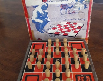 Vintage 1940's Peg Solitaire Game by A Sherm's Creation