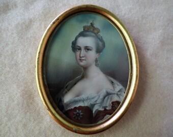 Royal Portrait Signed L. Sturm of Dresden - Fabulous 1820's Painting