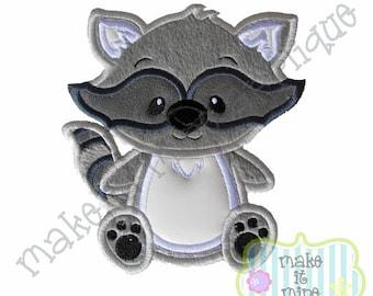 Applique Woodland Animal Raccoon Machine Applique Design