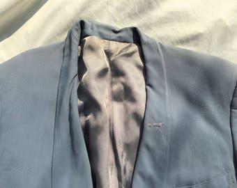 Vintage 50s Grayish Blue Dinner Jacket