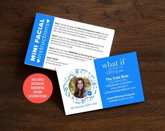 Rodan and Fields Business Cards, R and F Cards, RF, Rodan Business Card, Unmeasured, Marketing, Branding, Printable, Digital