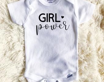 Girl Power Onesie - Baby Girl Onesie - Gift for Baby Girl - Baby Gift - Custom Onesies - Women Empowerment - Baby Shower Gift - Baby Shower