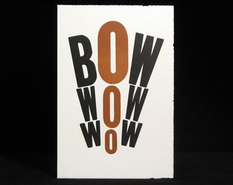 BOWOWOW greeting card