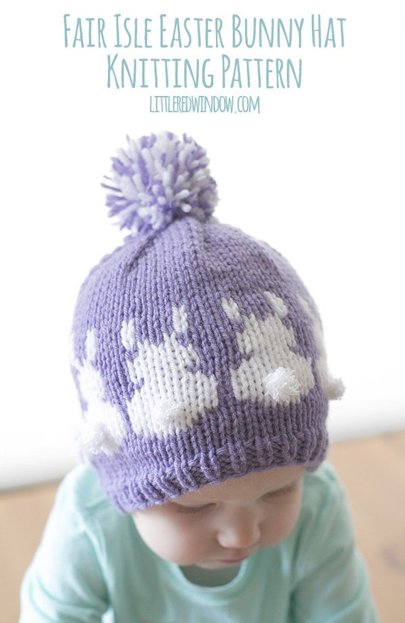 Easter Bunny Hat KNITTING PATTERN / Bunny Hat Pattern / Easter