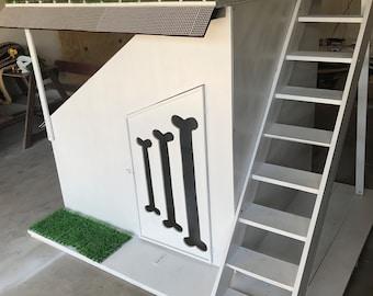 2 story luxury dog house