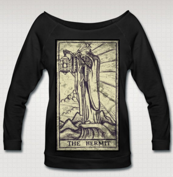 The Hermit Tarot Wideneck 3/4 Sleeve Shirt