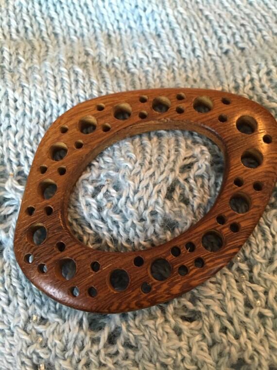 Shawl Pin Robles Wood Shawl Pin, Wooden Brooch, Handcrafted Shawl Pin, Round  Wooden Shawl Pin, Shawl Pin With Circle Cut Out Design