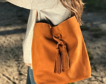 Hobo Camel L - shoulder bag - leather bag