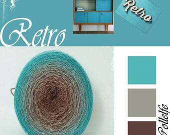 Retro* Merino silk Gradient Yarn hand dyed - Lace weight