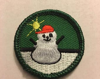 Frosty Fun Girl Scout Junior badge