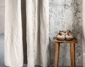 Natural linen curtains/ linen drapes