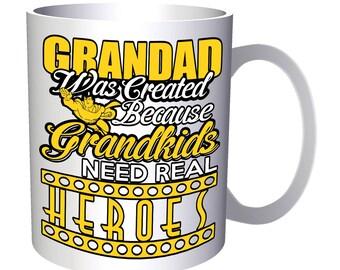 Grandad Grandkid Heroe 11oz Mug aa103