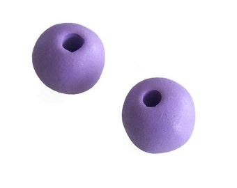 SALE 15% OFF Large Purple Greek Ceramic Round Beads 23mm, Round Ceramic Beads C 10 353