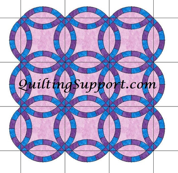 The Double Wedding Ring Quilt With Scalloped Edges Template