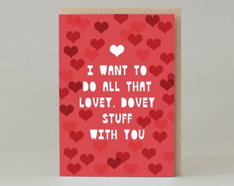 A Lovey Dovey Valentine's Day Card