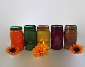 Large Fall Mason Jars - Mason Jar Decor-Fall Decor-Leaf Jar-Gift for her-Home Decor-Fall Wedding