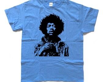 JIMI screenprinted Psychedelic TRIBUTE T Shirt