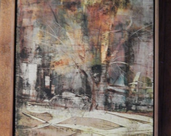Larry Stratton . signed . Great Abstract