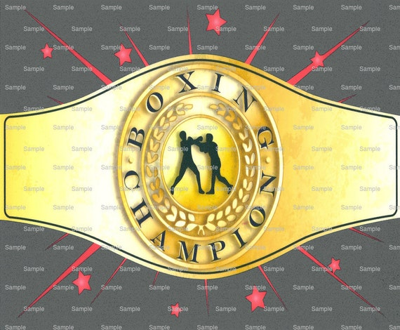 Boxing Champion Belt Birthday - Edible Cake and Cupcake Topper For Birthday's and Parties! - D891