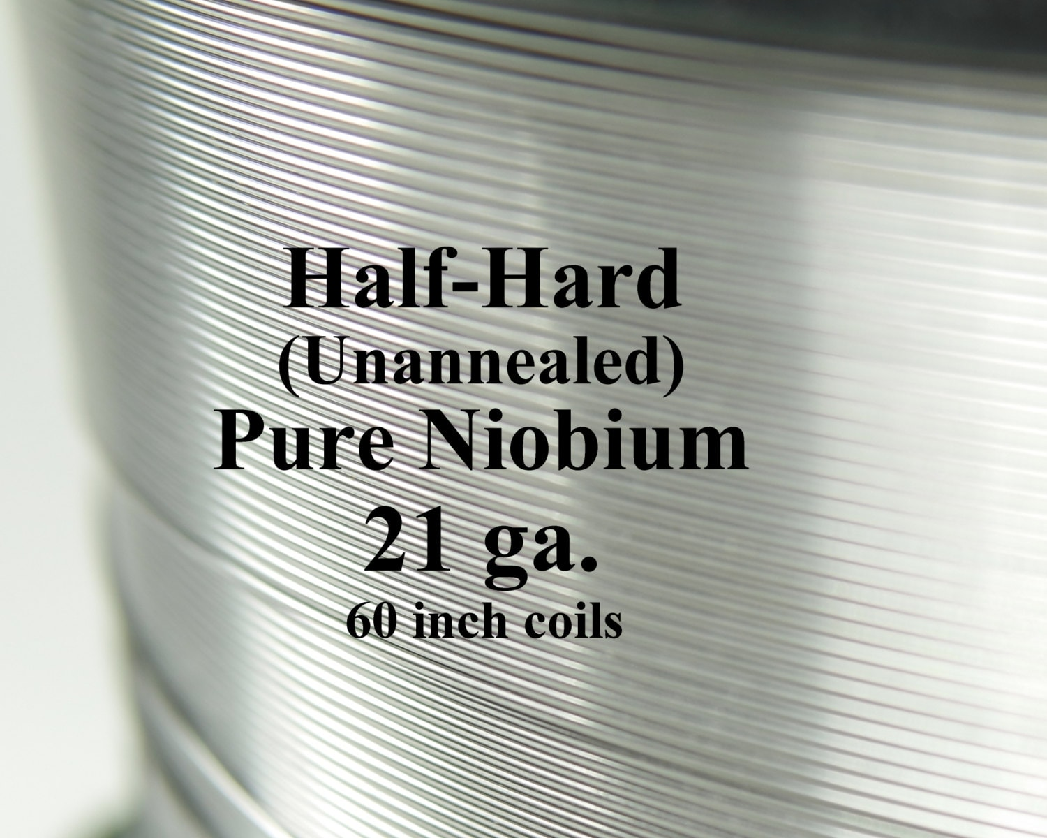 Pure Niobium Wire, 21 gauge (.029 inch diameter / .7366 mm, 21ga AWG ...