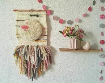 Woven - Woven wall hanging - modern weaving - wall decor - Weaving - multicolored weave