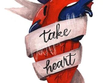 Take Heart Temporary Tattoo