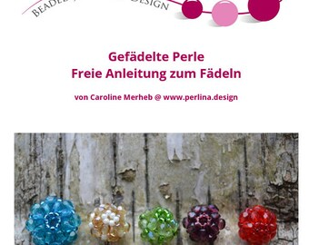 Perlina Tutorial - Beaded Bead - Free Tutorial