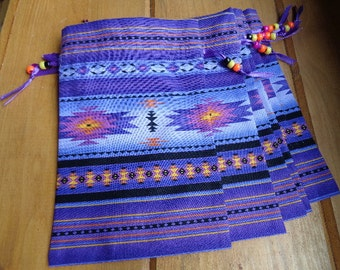 Native American Inspired Fabric Bags in Purple