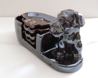 Ashtray - Door-ashtray dog - China - Japan - Vintage