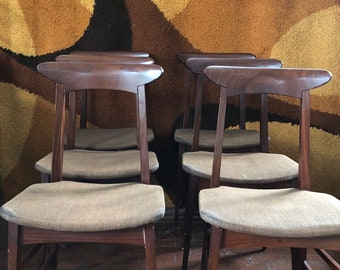 6 Swedish teak Chairs years 60