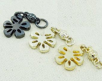 Flower Metal Zipper Slider,zipper accerrories.10pcs