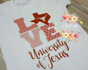 University of Texas, UT, Texas Longhorns, burnt orange, Austin Texas boutique tshirt