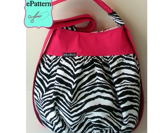 2- PDF Sewing Pattern, Sew Spoiled Cabrio Tote and Bird Appliqué