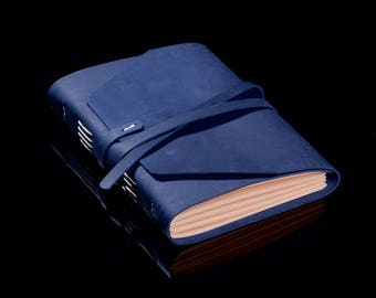 Leather Notepad А5 Colors Indigo White