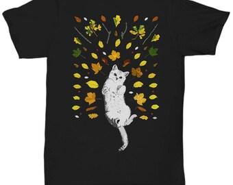 Kitten in Leaves T-Shirt