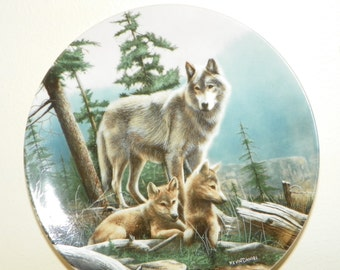 KNOWLES fine china kevin daniel limited editon plate 9685 B wildernesss